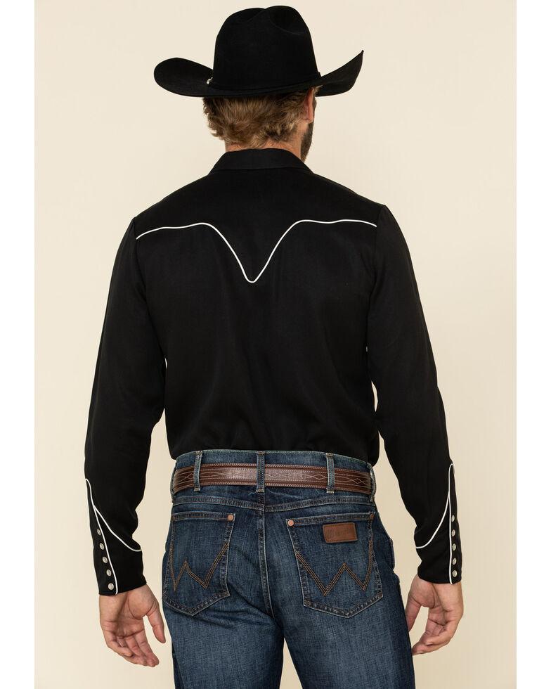 H Bar C Ranchwear Men's Black San Fernando Long Sleeve Western Shirt , Black, hi-res