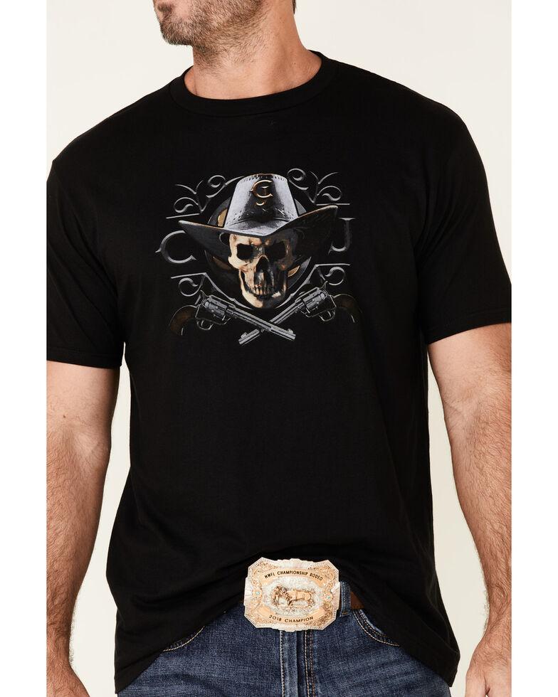 Cody James Men's Shadow Skull Graphic Short Sleeve T-Shirt , Black, hi-res