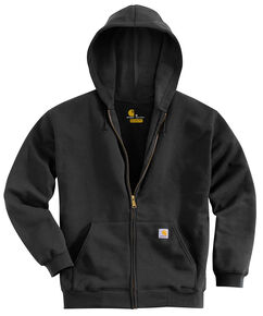 Carhartt Men's Hooded Zip Hoodie - Big & Tall, Black, hi-res