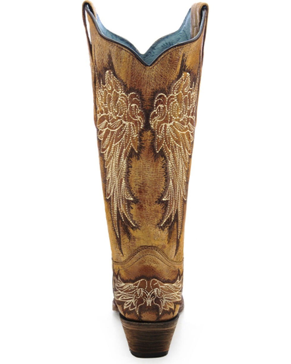 Corral Women's Wing Cowgirl Boots - Snip Toe, Antique Saddle, hi-res