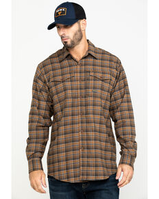 Ariat Men's Zane Plaid Rebar Flannel Durastretch Long Sleeve Work Shirt , Multi, hi-res