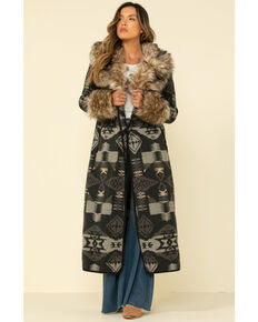Tasha Polizzi Women's Park City Blanket Coat , Dark Grey, hi-res