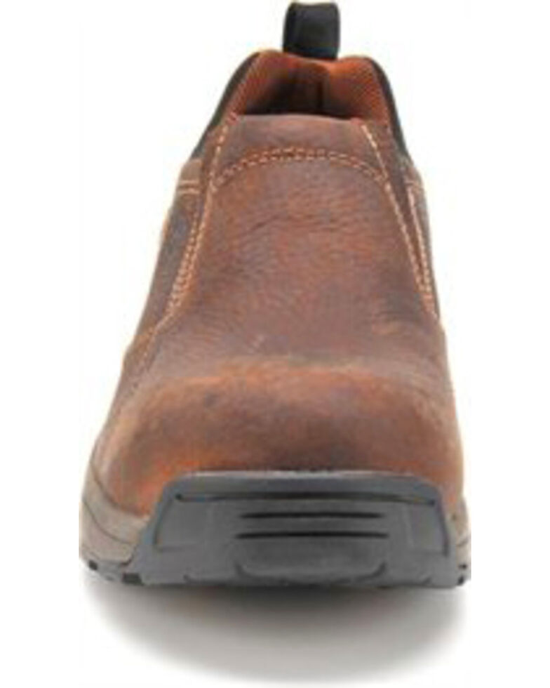Carolina Men's Brown Lightweight ESD Slip-On Shoes - Carbon Composite Toe, Brown, hi-res