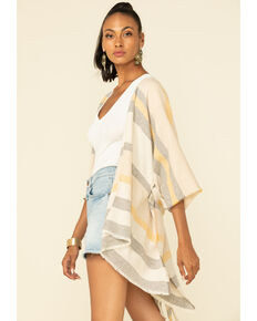 Shyanne Women's Multi Striped Belted Shawl, Multi, hi-res