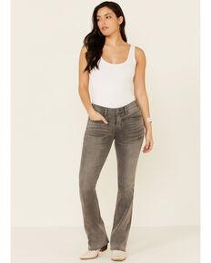 Rock & Roll Denim Women's Grey Wash Mid-Rise Bootcut Jeans, Grey, hi-res