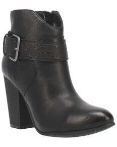 Code West Women's Swerve Fashion Booties - Round Toe, Black, hi-res