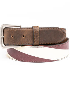 Cody James Men's Vintage American Flag Belt, Brown, hi-res