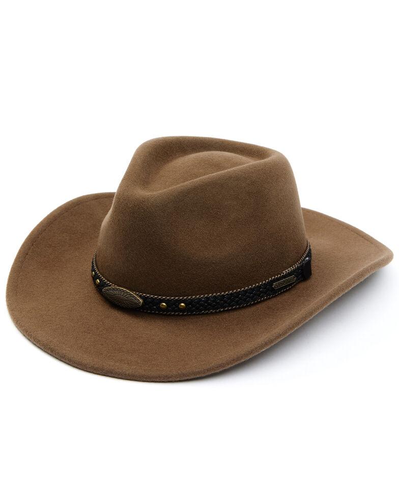 Cody James Men's Pecan Wool Felt Western Hat, Pecan, hi-res