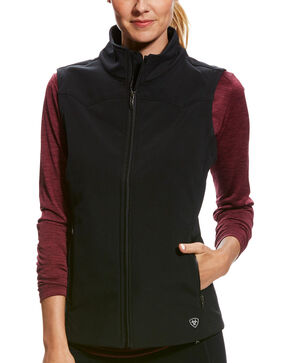 Ariat Women's Black Edge Softshell Vest , Black, hi-res