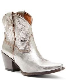 Dan Post Women's Gold Western Booties - Snip Toe, Gold, hi-res