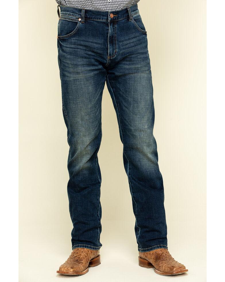Wrangler Retro Premium Men's Barrow Stretch Slim Straight Jeans , Blue, hi-res