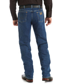 Wrangler Men's Cowboy Cut Active Flex Stone Wash Bootcut Jeans , Blue, hi-res