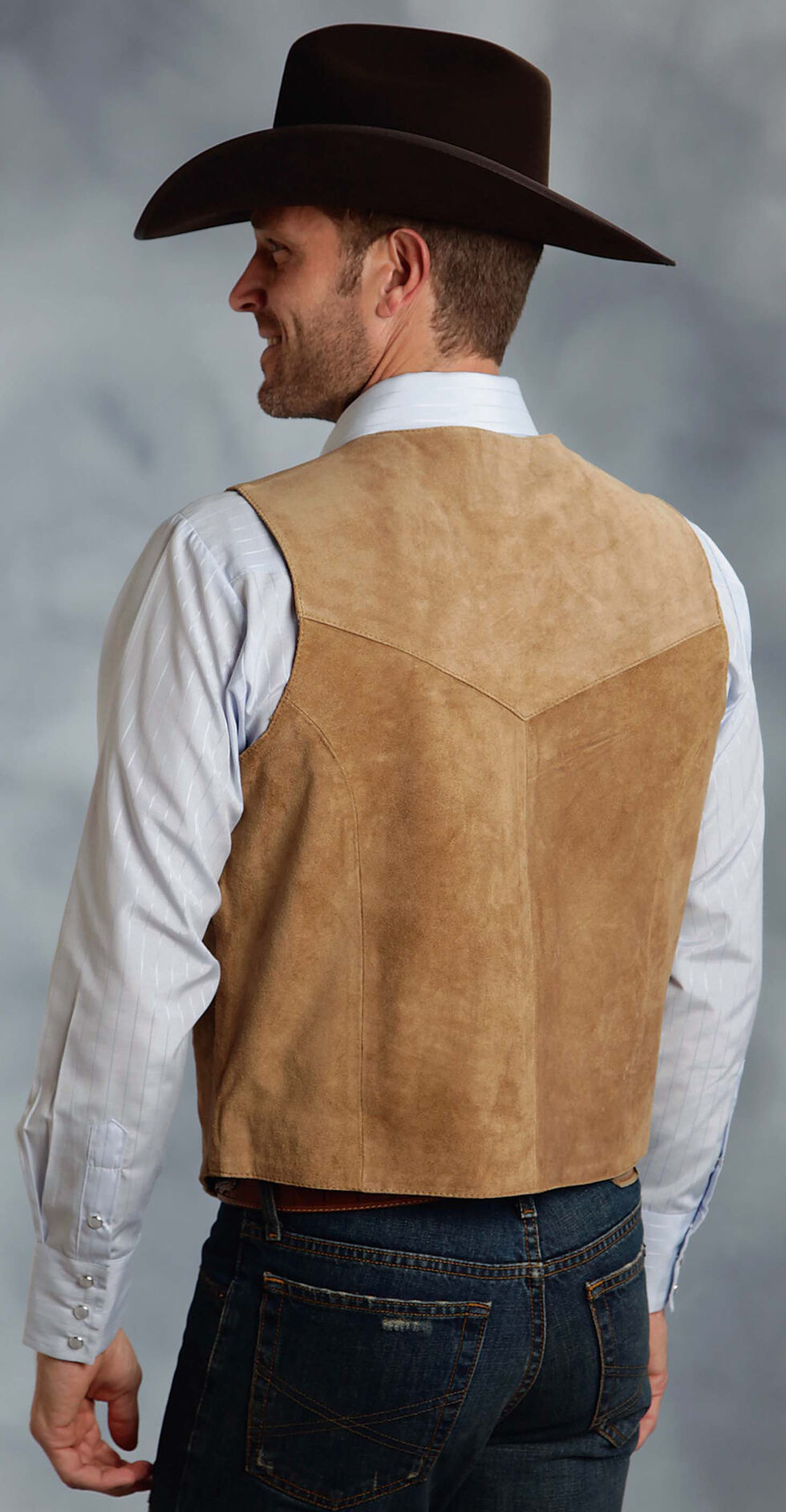 Roper Suede Vest - Big & Tall, Sand, hi-res