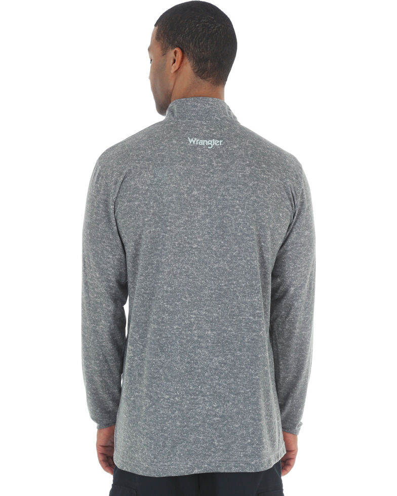 Wrangler Riggs Men's Olive Workwear 1/4 Zip Pullover Shirt - Big & Tall , Heather Grey, hi-res