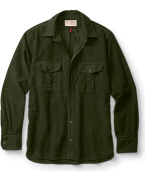 Filson Men's Moleskin Seattle Shirt, Olive, hi-res