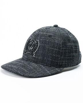 Cinch Men's Logo Embroidered Snapback Ball Cap, Black, hi-res