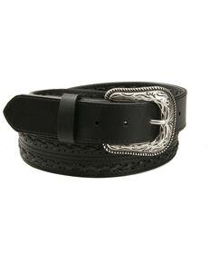 AndWest Men's Black X Laced Belt, Black, hi-res