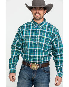 Cinch Men's Multi Large Plaid Long Sleeve Western Shirt , Multi, hi-res