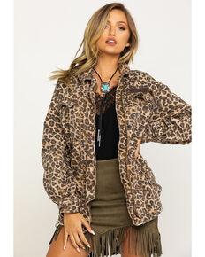 Free People Women's Seize The Day Leopard Print Jacket, Leopard, hi-res