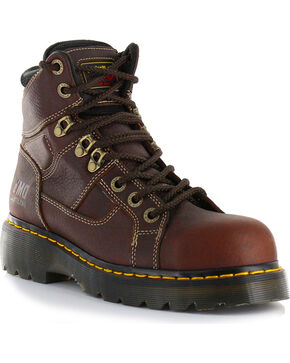 Dr. Martens Men's Ironbridge Ex Wide Work Boots - Steel Toe, Brown, hi-res