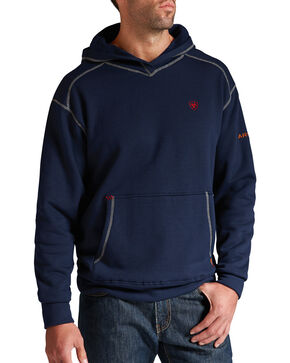 Ariat Flame-Resistant Polartec Hoodie - Big and Tall, Navy, hi-res