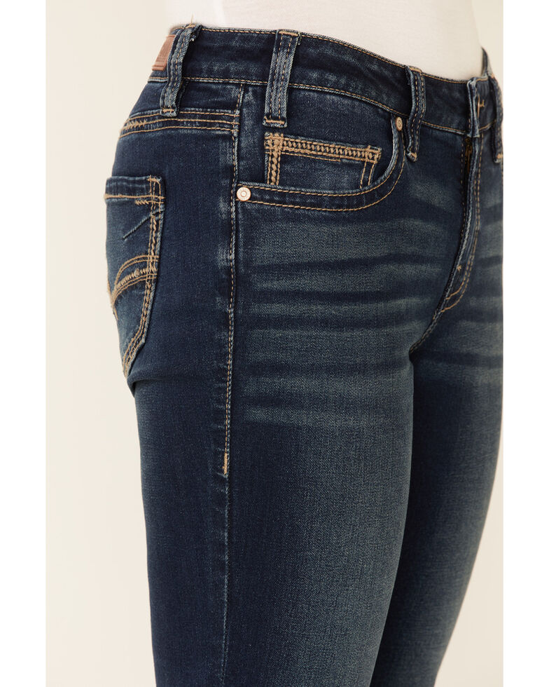 Rock & Roll Denim Women's Dark Wash Bootcut Riding Jeans, Dark Blue, hi-res