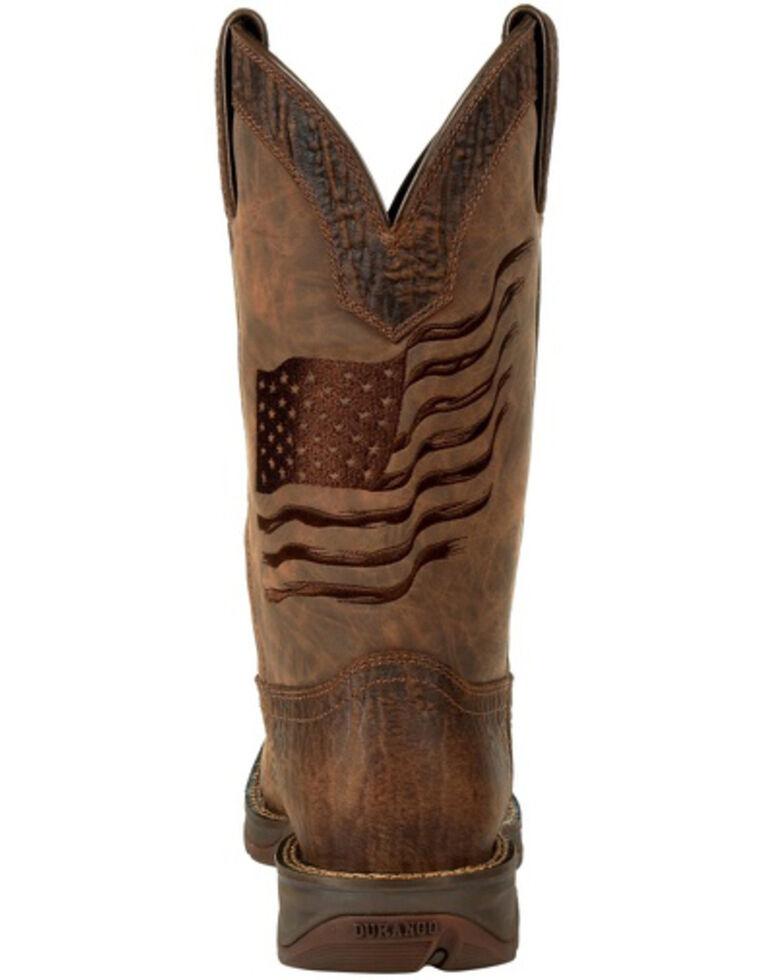 Durango Men's Rebel Brown Flag Western Boots - Square Toe, Brown, hi-res