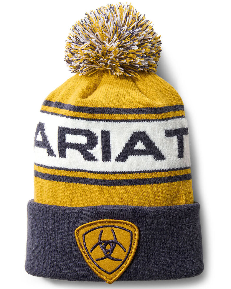 Ariat Men's Navy Team Beanie, Navy, hi-res