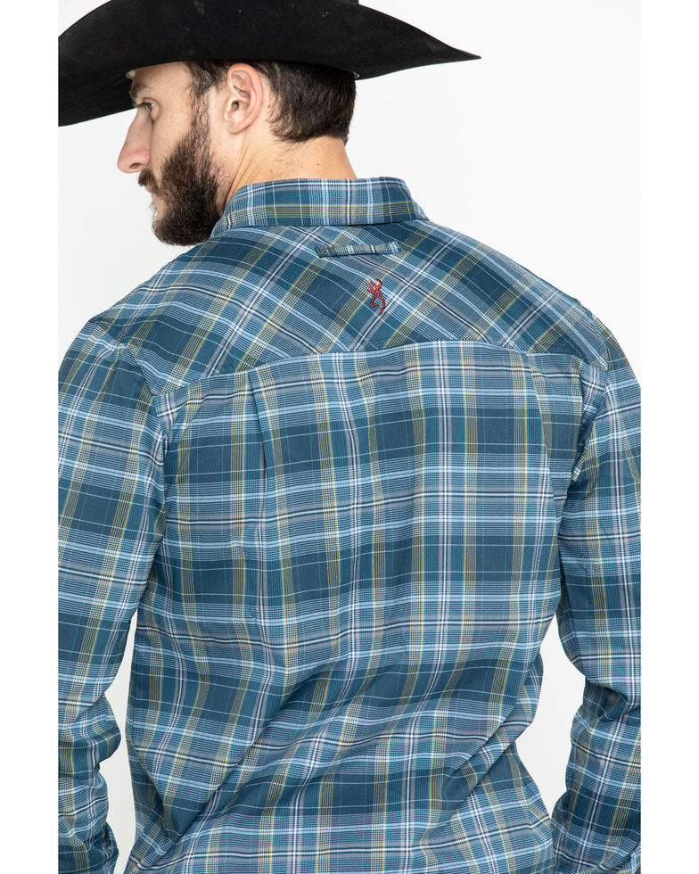 Browning Men's Blue Beacon Flannel Shirt , Navy, hi-res