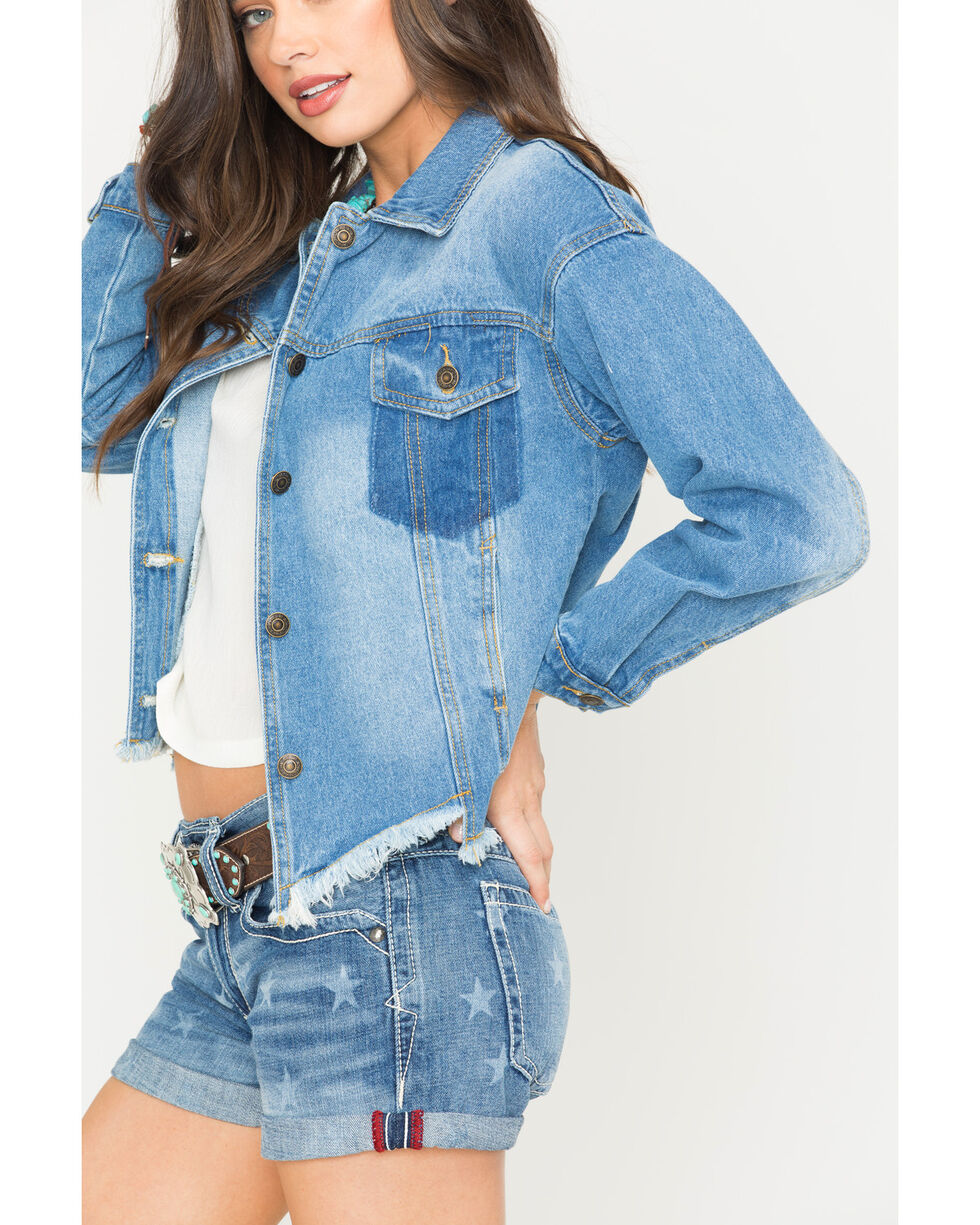 Sage the Label Women's Route 66 Jacket, Indigo, hi-res