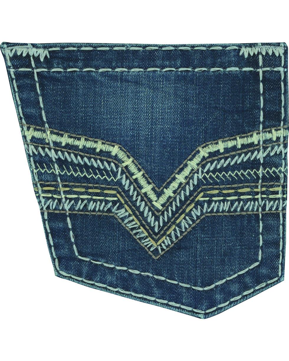 Rock 47 by Wrangler Men's Conga Slim Fit Jeans - Straight Leg, Indigo, hi-res