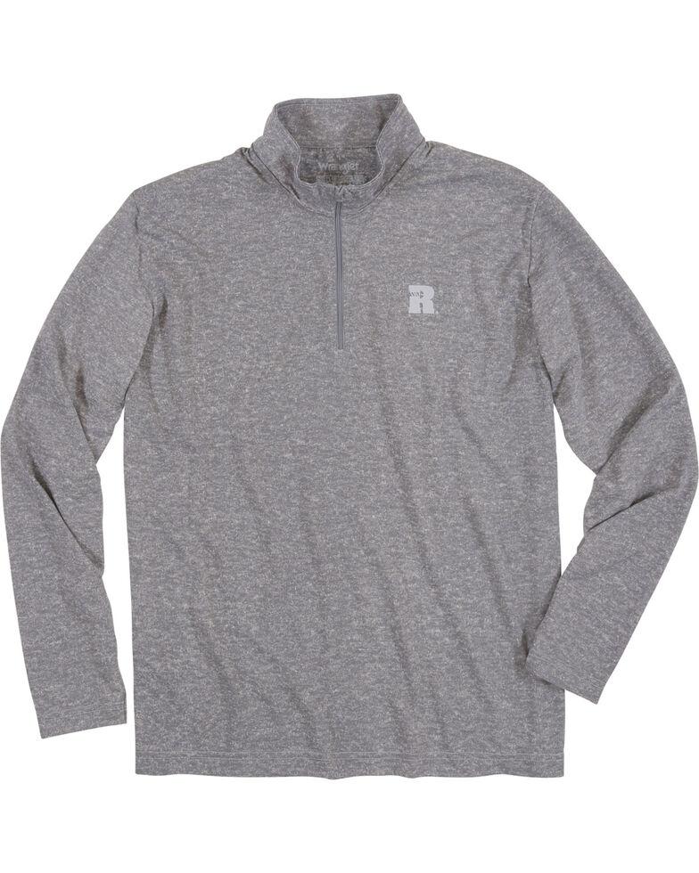 Wrangler Riggs Men's Olive Workwear 1/4 Zip Pullover , Heather Grey, hi-res