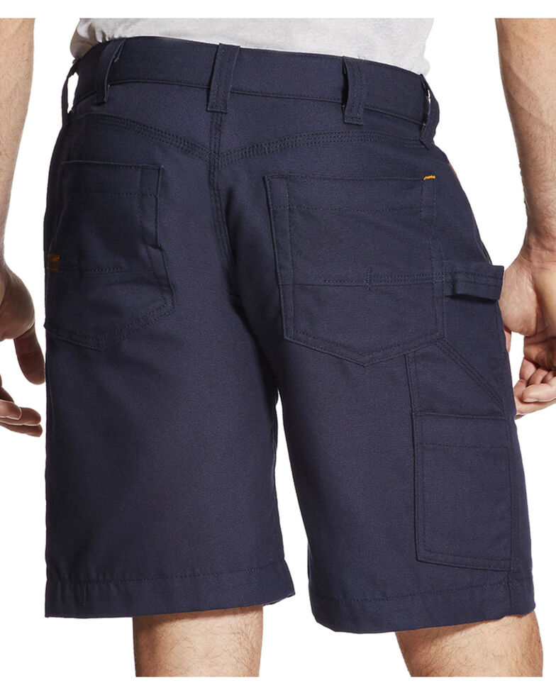 Ariat Rebar Men's Navy Canvas Work Shorts, Navy, hi-res