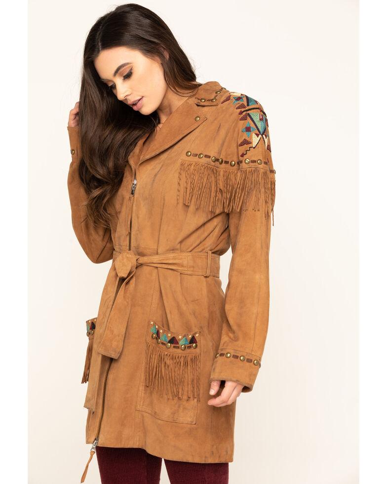 Double D Ranchwear Women's Tumbleweed Guarache Jacket, Tan, hi-res