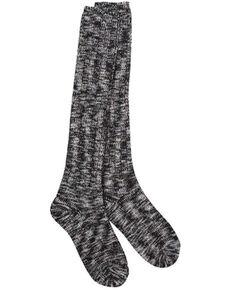 World's Softest Women's Weekend Ragg Knee-High Socks, Black, hi-res