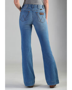 Wrangler Retro Women's High Rise Vintage Trouser Jeans , Blue, hi-res