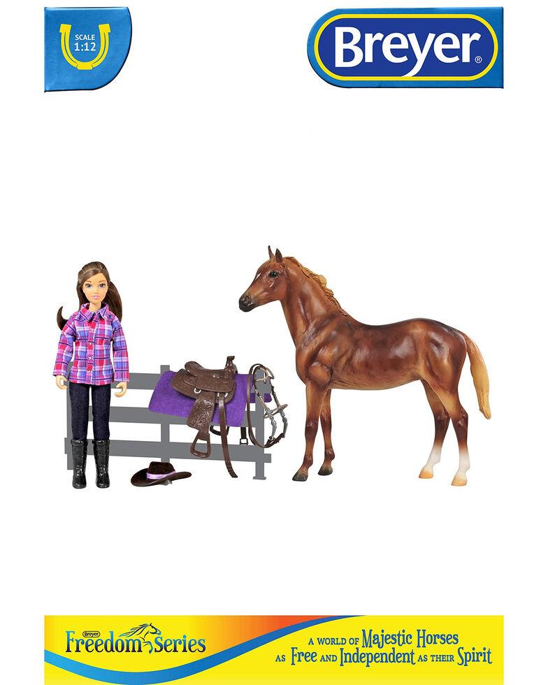 Breyer Girls' Western Horse & Rider, No Color, hi-res