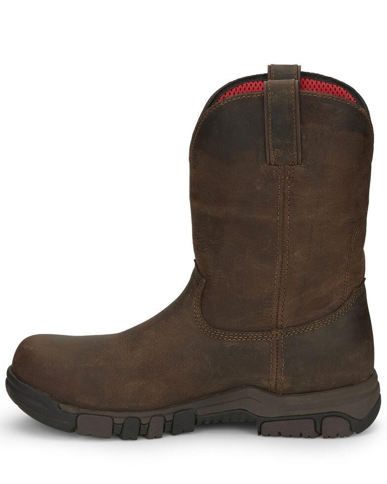 Justin Men's Basque Waterproof Western Work Boots - Composite Toe, Brown, hi-res