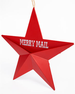 BB Ranch Merry Mail Star Wall Pocket, Red, hi-res