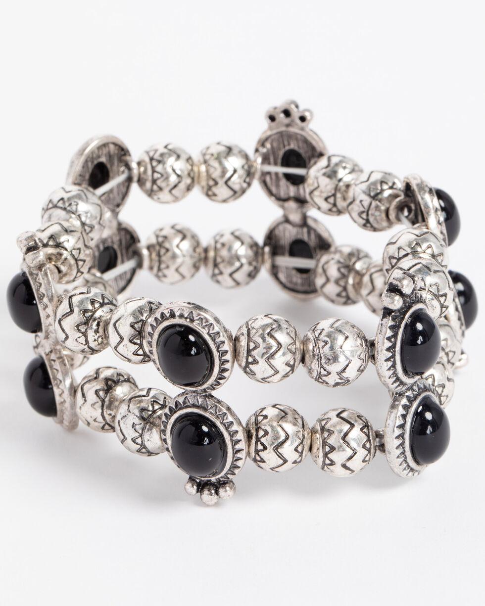 Shyanne Women's Engraved Concho Bracelet, Silver, hi-res