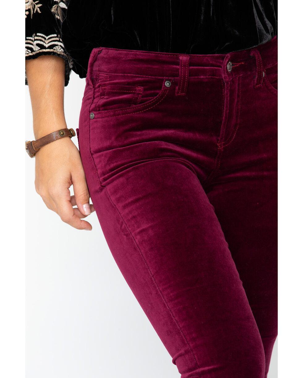 Silver Women's Aiko Skinny Jeans, Black Cherry, hi-res