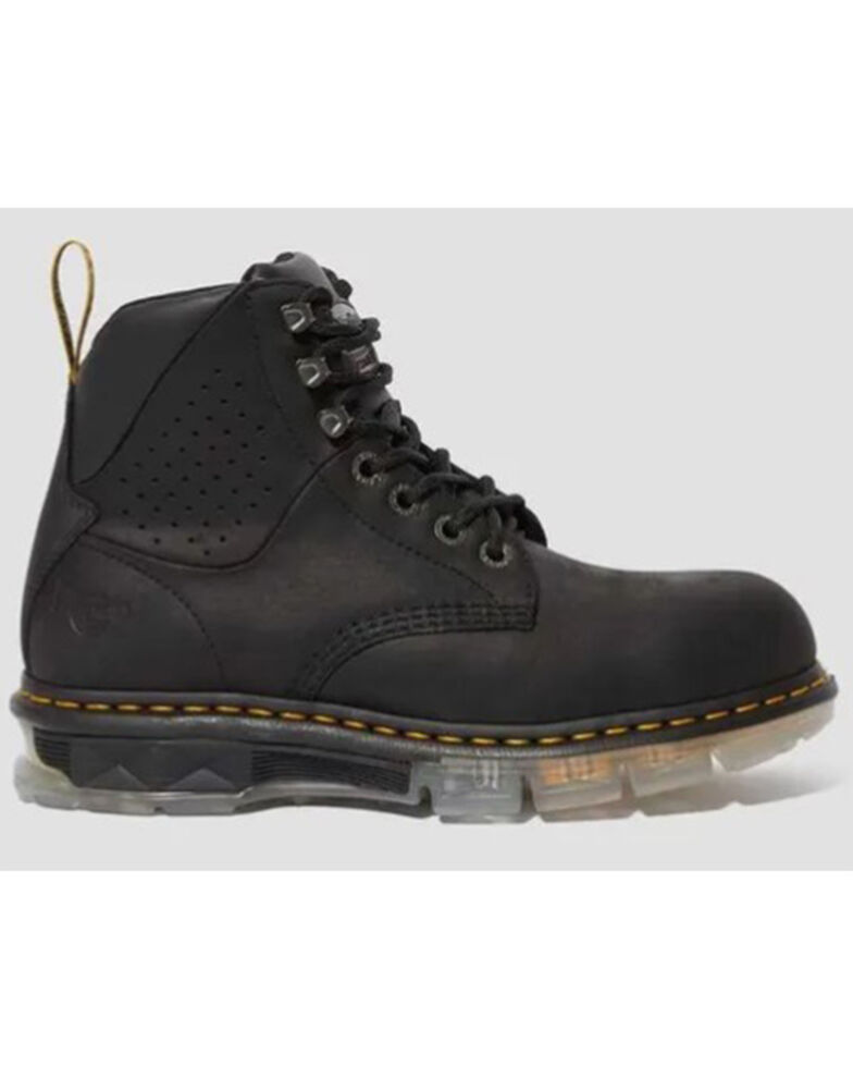 Dr. Martens Men's Britton Work Boots - Steel Toe, Black, hi-res