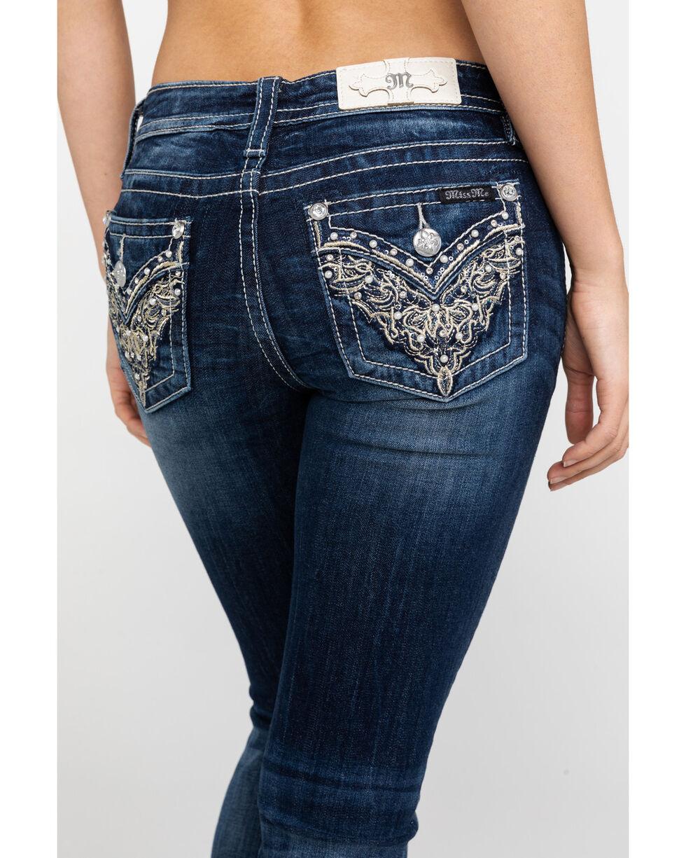 Miss Me Women's Scroll Flap Bootcut Jeans, , hi-res