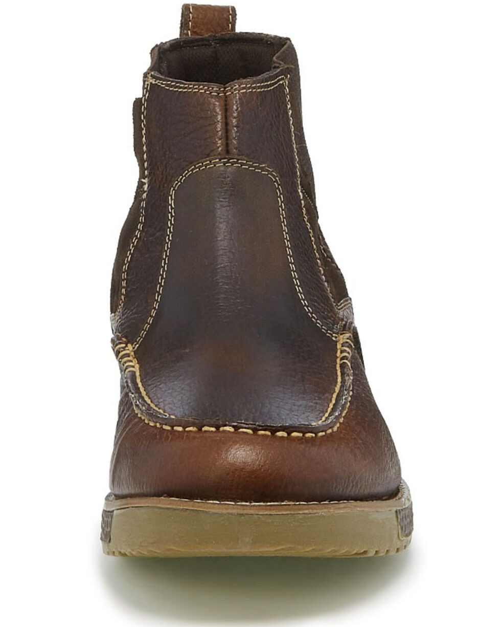 Justin Men's Legacy Sun Oak Boots - Moc Toe, Brown, hi-res
