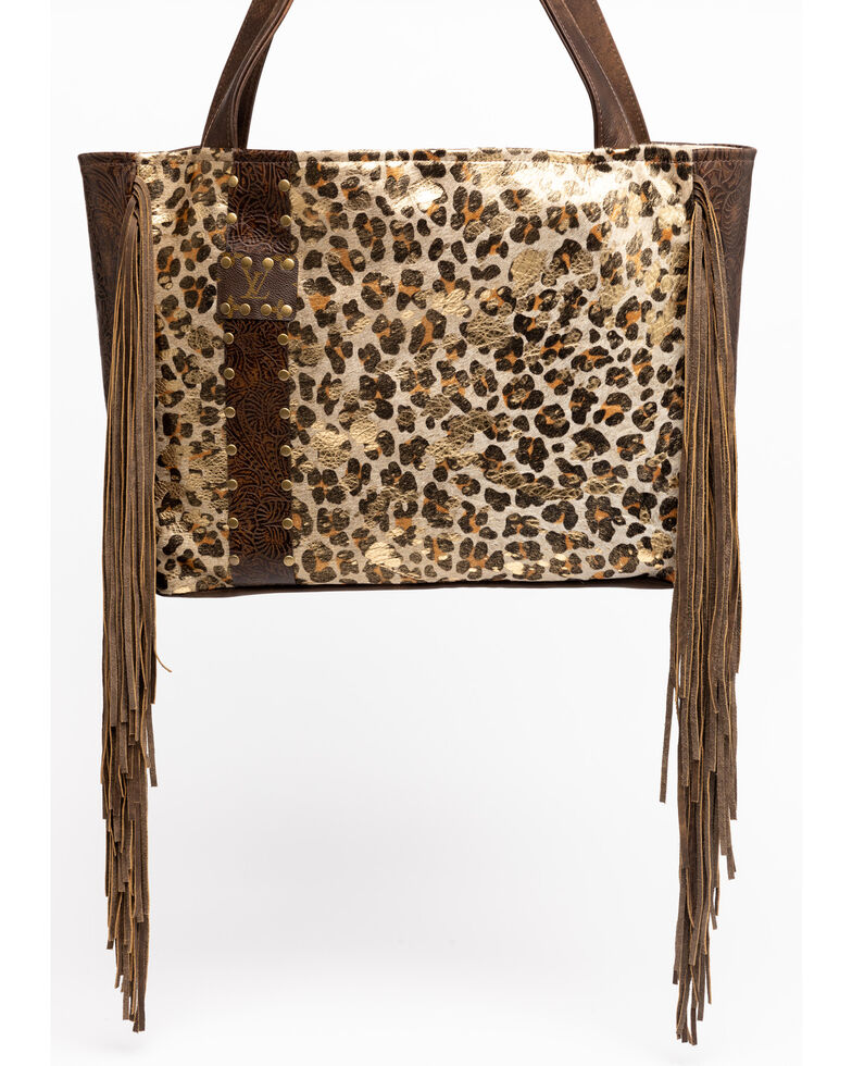 Keep It Gypsy Women's Stella Gold Leopard Large Tote Handbag , Brown, hi-res