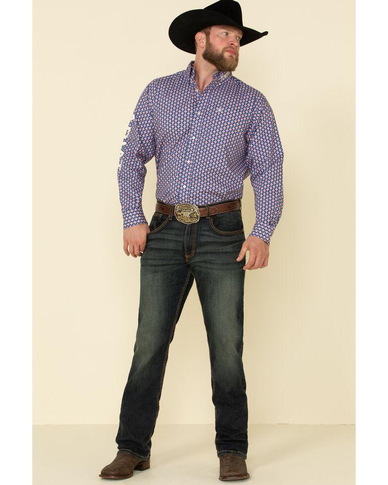 Ariat Men's Pistol Team Geo Print Long Sleeve Western Shirt , , hi-res