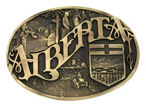 Montana Silversmiths Alberta Province Heritage Attitude Belt Buckle, Gold, hi-res