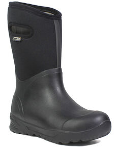 Bogs Men's Bozeman Insulated Waterproof Work Boots - Round Toe, Black, hi-res