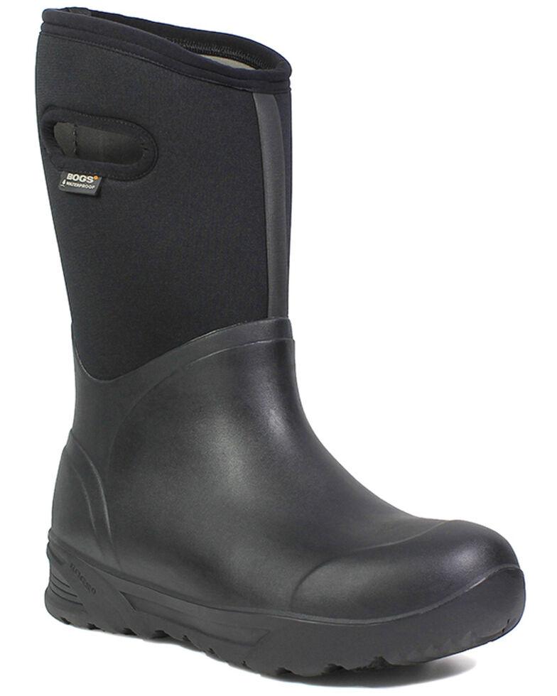 Bogs Men's Bozeman Insulated Waterproof Work Boots - Round Toe, Black, hi-res
