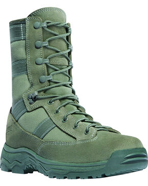 "Danner Men's Sage Hot 8"" Reckoning Tactical Boots - Round Toe, Olive, hi-res"
